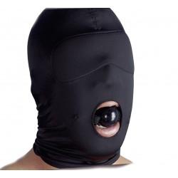 Spandex Maske mit Mundöffnung und Gag