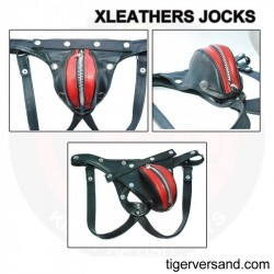 XLeathers Leatherjock black-red with zipper