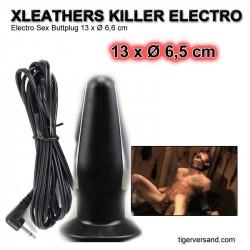 Electro Sex Buttplug 13 x Ø 6,6 cm