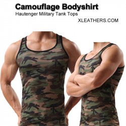 Camouflage Bodyshirt Military Tank Tops