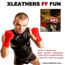 Woof!! Fist & Fun extra Gloves red
