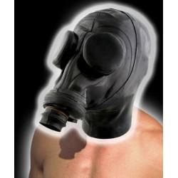 Ru. Gasmaske + Latexhaube & Augenabdeckung