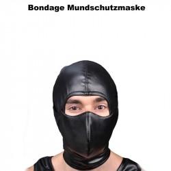 Bondage Mundschutzmaske aus leder
