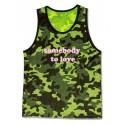 Barcode Berlin Tank Top Choose Life Camouflage
