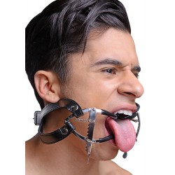 Whitehead Ratchet Mouth Gag With Leather Strap + PVC Coating