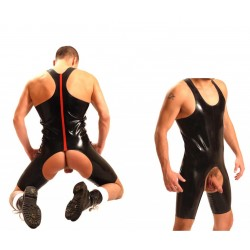 1 Fist Rubber Suit • Red Stripe Original from UK