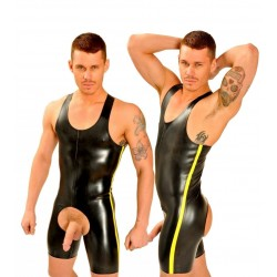 1Fist Rubber Suit • Yellow Stripe  Original from UK
