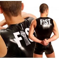 FF LATEX MUSKEL Shirt MIT WEISSER FFFAUST