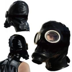 Russische Gasmaske GPA mit Haube und sicheren Halsband mit D Ring