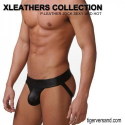 "Black Faux Leather Panty ""Assless"""