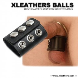 Leather Ball Stretcher With One Snap