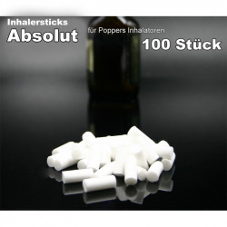 Inhalersticks Absolut für Aroma Inhalatoren 100x