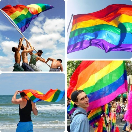 Gay Pride Rainbow Flag 90 x 150 cm