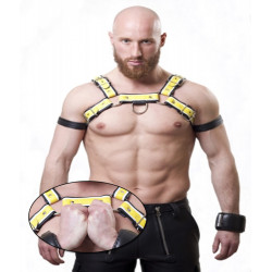 xleathers deluxe Harness 3 farbig gelb