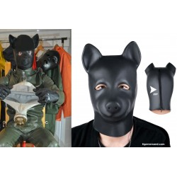 Top Fetishmaske aus schweren Latex 0,4 mm  Doggy Style