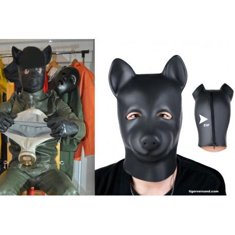 Top Fetishmaske aus schweren Latex 0,4 mm  Doggy Style