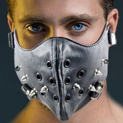BIKE mask with rivets Masculine charisma