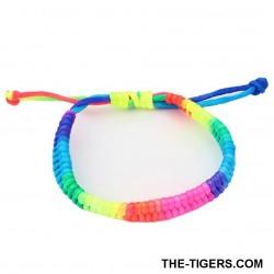 Geflochtenes Größenverstellbares Regenbogen Armband