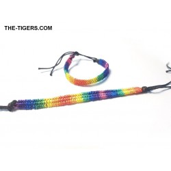 Braided rainbow bracelet