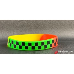 Silicone Rainbow Black Plaid Bracelet