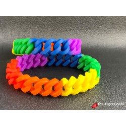 Geflochtenes Rainbowl Silikon Armband