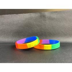 PRIDE Rainbow silicone bracelet