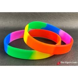 Silicone rainbow bracelet