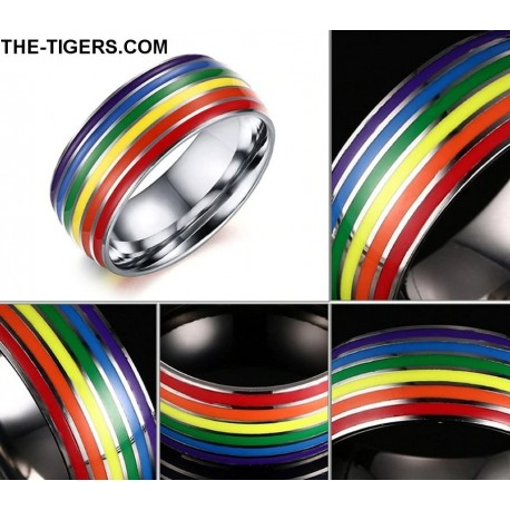 Pride stainless steel ring 8mm height
