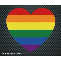 Pride Heart Sticker Aufkleber 10x11cm