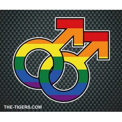 Pride Gay Sticker 10 x 12,7cm