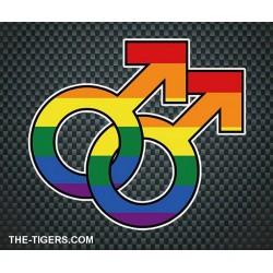 Pride Gay Sticker Aufkleber 10 x 12,7cm