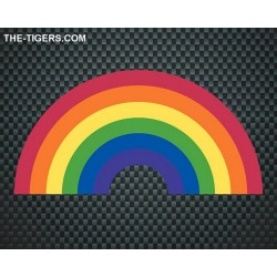 Pride Rainbow Sticker 7,5 x 15cm