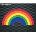 Pride Rainbow Sticker 7,5 x 15cm