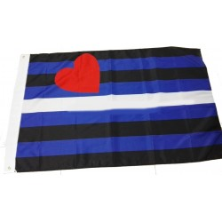 PRIDE LEATHER FLAG 90x150cm
