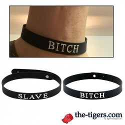 Slave or Bitch collar silicone
