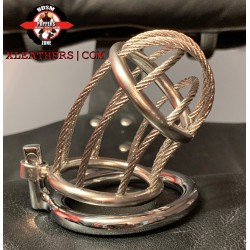 Tightrope Stainless steel chastity Cage