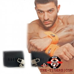 Rubber solid hand cuffs tie up rugged design