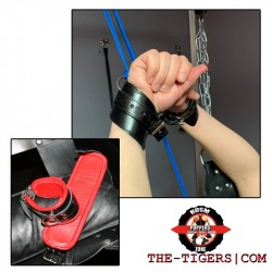 Bondage Handcuffs or Ankle Restraints black-red