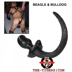 Oxballs Puppy Tail Black BEAGLE  or BULLDOG  UNIKAT