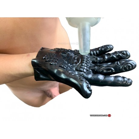 Flex stimulating glove for anal fist FFick Action