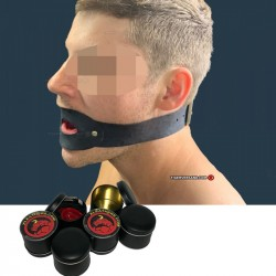 Comfortable Tongue gag for Subs black or red