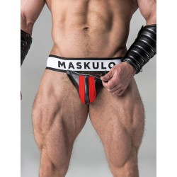 MASCULO Mens Fetish Jockstrap. red