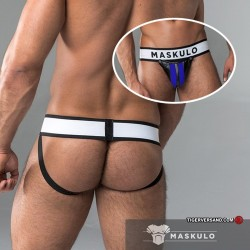 MASCULO Mens Fetish Jockstrap blue