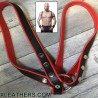 Leder-Harness Gigant rot-schwarz