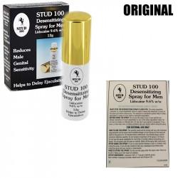 STUD 100 is a desensitizing spray for men. Its active ingredient, Lidocaine