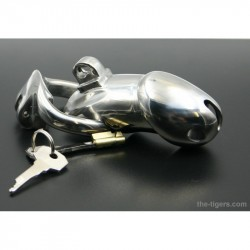 Ergonomic chastity cage heavy and deluxe