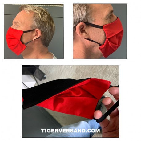 Face mask Tirol 2 in 1 black and red to change