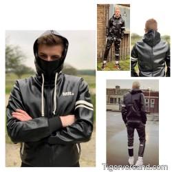 Mr Riegillio MR Black Jacket Full Zip