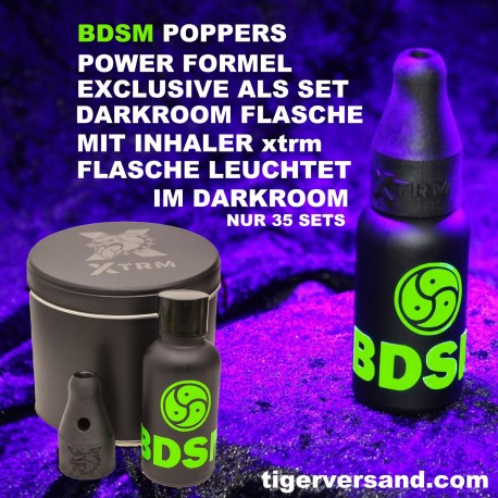 BDSM Poppers explosion incl. Power Inhaler DARKROOM EDITION