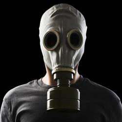 Graue Russische Gasmaske